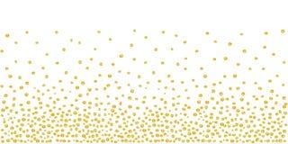 Willekeurig Dalend Gouden Dots Background Royalty-vrije Stock Afbeeldingen