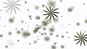 Willekeurig roterende abstracte bloemen op wit stock illustratie