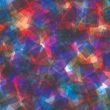 Willekeurig transparant vierkanten naadloos patroon abstracte achtergrond Vierkanten op elkaar worden toegevoegd die geometrisch  stock illustratie