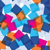 Willekeurig vierkanten naadloos patroon abstracte achtergrond Vierkanten op elkaar worden toegevoegd die geometrisch Drukstof, kl stock illustratie