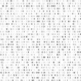 Willekeurige binaire codage Technologie digitale achtergrond Zwart-witte binaire code Vector illustratie royalty-vrije illustratie