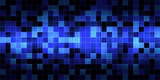 Willekeurige blauwe vierkanten Stock Afbeeldingen