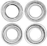 Willekeurige gekrabbelcirkels Concentrische cirkels in een hand getrokken styl vector illustratie