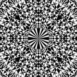 Willekeurige geproduceerde mandala zoals zwart-wit patroon Royalty-vrije Stock Foto
