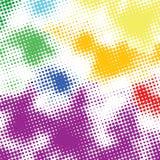 Willekeurige halftone kleurrijke rug Royalty-vrije Stock Foto