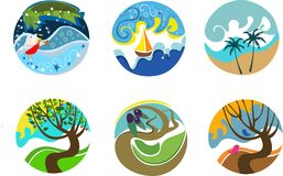 Willekeurige pictogrammen Royalty-vrije Stock Afbeelding