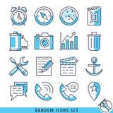Willekeurige pictogrammen geplaatst vectorillustratie Stock Foto