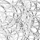 Willekeurige squigglelijnen, snijdende willekeurige cirkels Gekrabbel, Ta vector illustratie