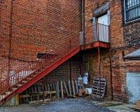 Willekeurige stappen aan een gebouw in Asheville, Noord-Carolina, de V.S. Royalty-vrije Stock Foto's