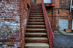 Willekeurige stappen aan een gebouw in Asheville, Noord-Carolina, de V.S. Stock Fotografie