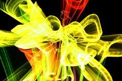 Willekeurige stroken van licht Stock Foto
