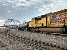 Willekeurige treinen in Atchison Kansas Royalty-vrije Stock Foto's