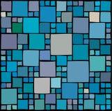 Willekeurige vierkantenachtergrond Stock Foto's