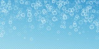 Willekeurige zeepbels abstracte achtergrond Het blazen B royalty-vrije illustratie