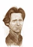 Willem Dafoe watercolor Sketch Stock Photo
