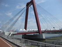 Willems Bridge (Willemsbrug) Rotterdam City Royalty Free Stock Photo
