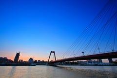 Willemsbridge no rio de Meuse em Rotterdam imagens de stock royalty free