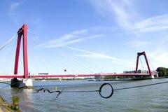 Willemsbrug桥梁,鹿特丹 免版税图库摄影