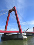 Willemsbrug-Brücke, Rotterdam Stockbild