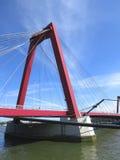 Willemsbrug bro, Rotterdam Fotografering för Bildbyråer