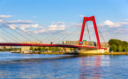 The Willemsbrug or Williams Bridge in Rotterdam Stock Images
