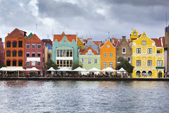 Willemstad colorido fotografia de stock