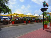 Willemstad Curaçau do café do beira-mar Imagens de Stock Royalty Free