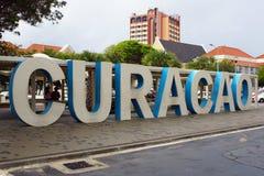 Willemstad, Curaçau, ilhas de ABC imagens de stock