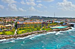 Willemstad, Curacao. Colorful houses and warm waters of Willemstad, Curacao stock photography