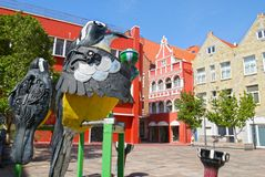 Willemstad, Curacao. Dutch Antilles. October 16, 2018. Colourful Buildings attracting tourists from all over the world. Blue sky royalty free stock images