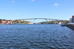 Willemstad, Curacao - 12/17/17 - regina Juliana Bridge dell'isola del Curacao; Fotografie Stock Libere da Diritti
