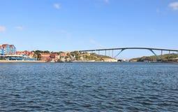Willemstad, Curacao - 12/17/17 - regina Juliana Bridge dell'isola del Curacao; Fotografia Stock