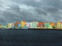 Willemstad, Curacao vóór het onweer Royalty-vrije Stock Foto's