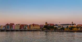 Willemstad en la puesta del sol Imagen de archivo