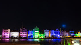 Willemstad at night in the island of Curacao Stock Image