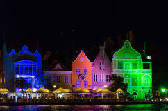 Willemstad at night in the island of Curacao Stock Photography