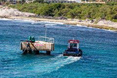 Willemstad Pilot Boat by Mooring Platform Royalty Free Stock Photo
