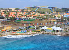 Willemstad port in Curacao Royalty Free Stock Photo