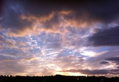 Sunset over Willen, Milton Keynes. royalty free stock images