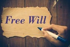 Willensfreiheit Stockbild