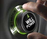 Willenskraft-Konzept Stockfotos