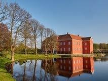 Willestrup slott i Danmark Arkivfoton