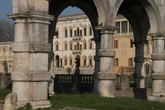 Willi Contarini panoramiczny widok antyczna willa Andrea kumpel obrazy royalty free