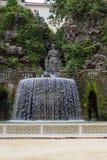 Willi d «Este16th-century fontanna i ogród, Tivoli, Włochy Unesco Światowego Dziedzictwa Miejsce zdjęcie stock
