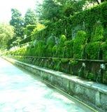 Willi dEste ogródy Tivoli, Włochy (-) fotografia stock