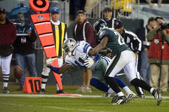 William. A pass intended for Dallas Cowboy receiver Roy Williams falls to the ground as Philadelphia Eagles Sheldon Brown defends in the fourth quarter of a 2009 Royalty Free Stock Photography
