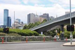 William Barak Bridge and view on city, Melbourne, Australia,18. January 2011 Stock Photo