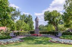 William Bennett Bizzell Sculpture na universidade de Oklahoma imagem de stock