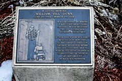 William-` Bill-` Dunn Memorial - Janesville, WI Stockbilder