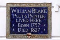 William Blake Plaque stock foto's